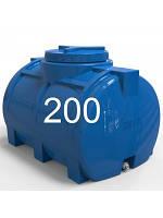 Емкость горизонтальная пластиковая однослойная объем 200 литров.
