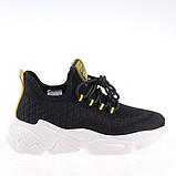 Стильні чорні кросівки Lonza Z9009-2 BLACK весна 2020, фото 3
