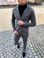 Классический костюм мужской кашемировый Yelochka х grey / ЛЮКС качества