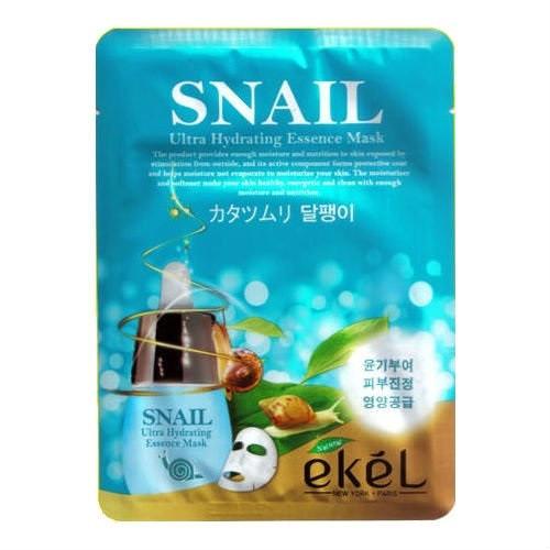 Корейская тканевая маска с улиткой Ekel snail mask