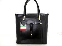 Удобная женская сумка 100% натуральная кожа. Черный, фото 1