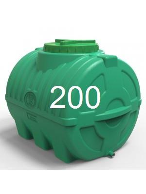 Емкость пластиковая горизонтальная 200 литров трехслойная.