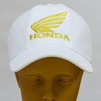 Белая кепка бейсболка с вышивкой логотипа Хонда