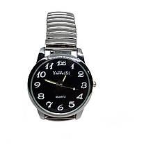 Часы кварцевые YаWeiSi Big на браслете резинка черный