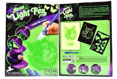 Двусторонний планшет для рисования светом и для рисования невидимыми чернилами!