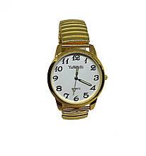 Часы кварцевые YaWeiSi Big  на  браслете резинка под золото белый