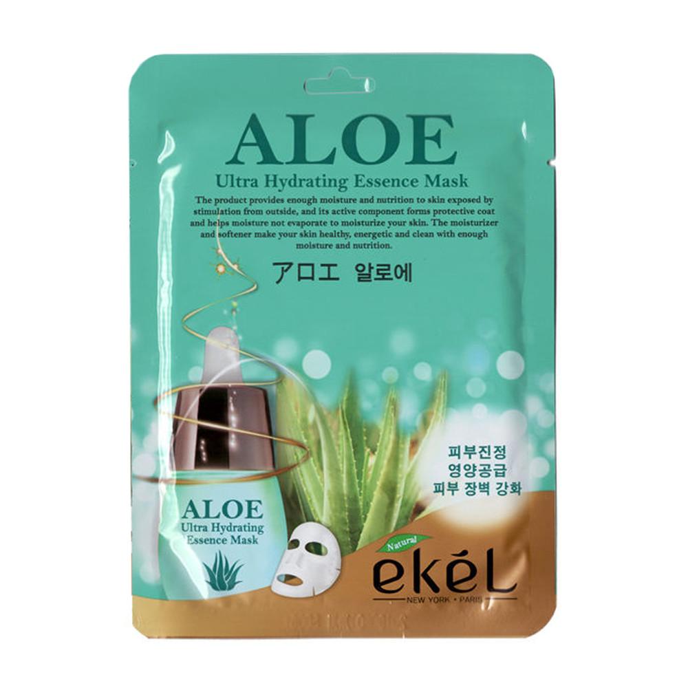 Корейская тканевая маска с алое Ekel Aloe
