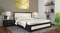 Деревянная кровать бук Рената Д 160х190/200 см ТМ Arbor Drev с подъемным механизмом