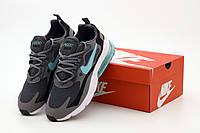 Мужские кроссовки Nike Air Max 270 React серые (ТОП реплика ААА+), фото 1