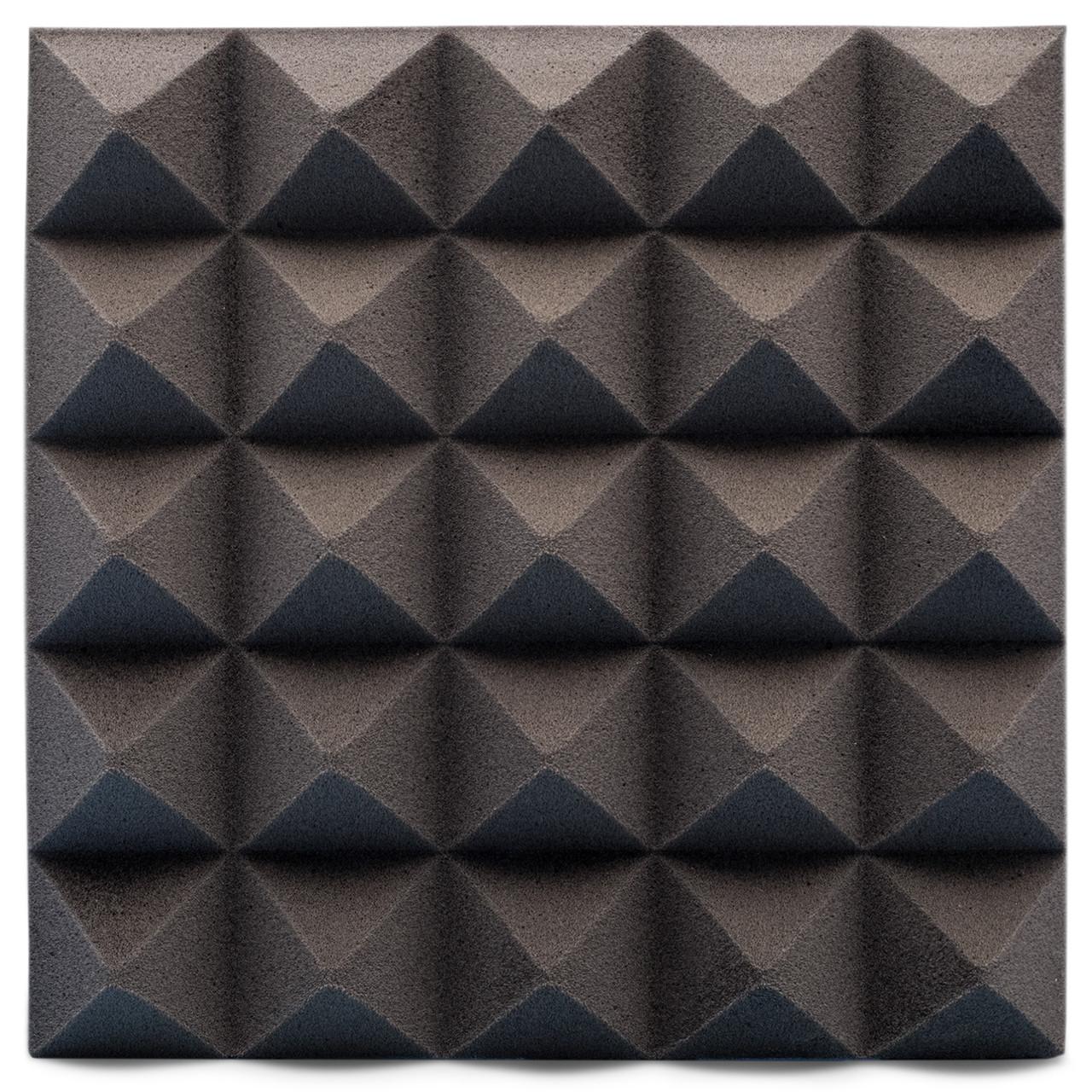 Панель из акустического поролона Ecosound пирамида Pyramid Velvet Black 250х250х25мм цвет черный графит