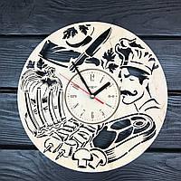 Концептуальные деревянные часы на стену «Шеф-повар», фото 1