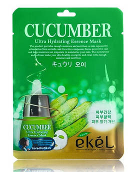 Корейские тканевые маски Ekel Cucumber с огурцом