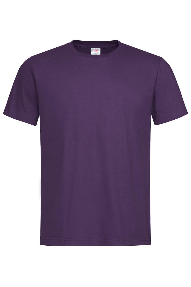 Футболка мужская фиолетовая с круглым вырезом Stedman - DBYCT2000