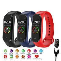 Фитнес часы М4, смарт браслет smart watch, аналог mi band 4, треккер, сенсорные фитнес часы