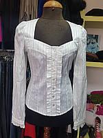 Блуза с вырезом каре приталенная  Yuka, фото 1