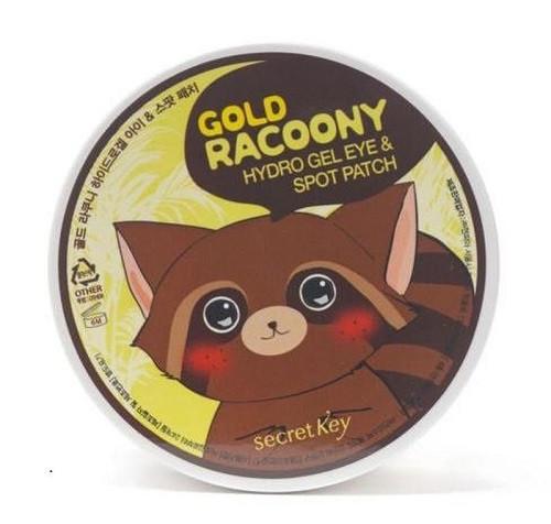 Гидрогелевые патчи под глаза Secret Key Gold Racoony Hydro Gel Eye & Spot Patch