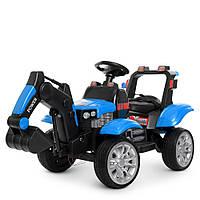 Трактор M 4263EBLR-4 радіокер.2,4G,2мот.35W,2акум.6V7AH,шкіра,MP3,TF,USB,кол.EVA,світ.,муз.,синій.
