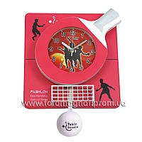 """Часы для интерьера, настенные(большие) """"Настольный тенис"""" (Красные)"""