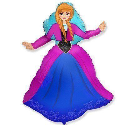 Фольгована кулька велика фігура Принцеса Анна 99см Flexmetal