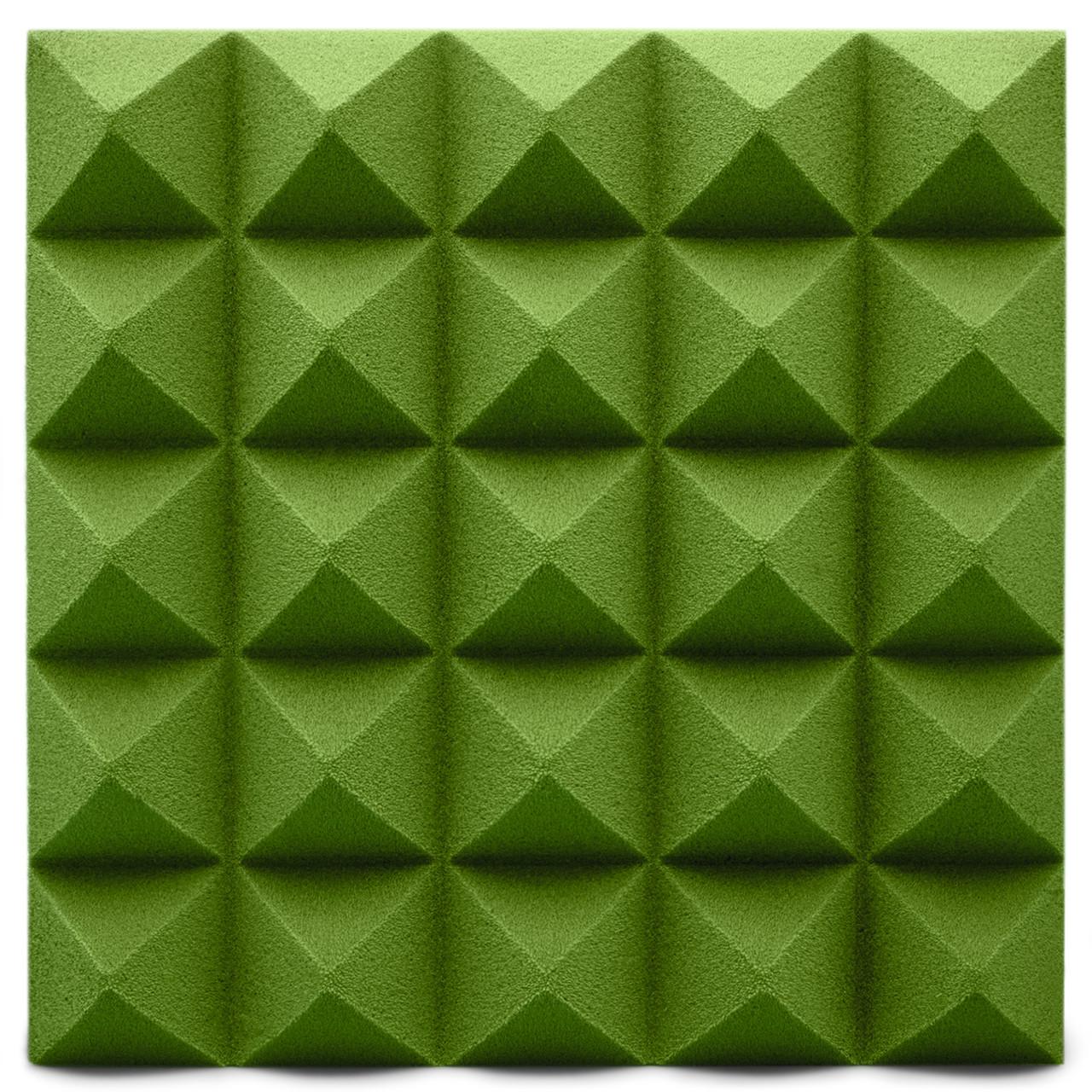 Панель з акустичного поролону Ecosound піраміда Pyramid Green Velvet 250х250х25мм колір зелений