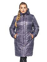 Удлиненная женская зимняя куртка батал, фото 1