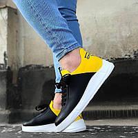 Мужские кроссовки Chambers Ob-08 black/yellow, фото 1