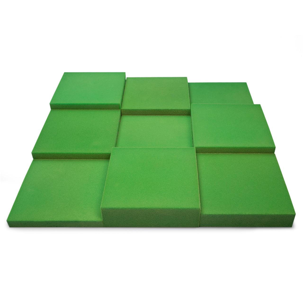 Панель из акустического поролона Ecosound Pattern Velvet 60мм, 60х60см цвет зеленый