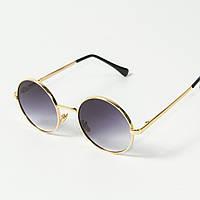 Круглые солнцезащитные очки (арт. 80-668/1) фиолетово-серый