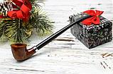 Классическая курительная трубка с длинным мундштуком Churchwarden из бриара, фото 2