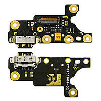 Разъём зарядки для NOKIA 7 Plus на плате с микрофоном и компонентами