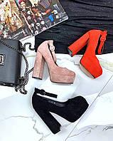 Туфли на шнурках на толстом каблуке ., фото 1