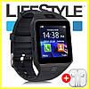 Умные часы Smart Watch DZ09 Black / Смарт часы + Наушники в Подарок