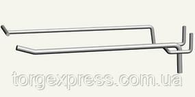 Крючок одинарный 200 мм с ценникодержателем