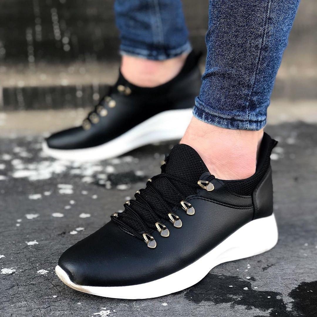 Мужские кроссовки ob-01 black/white
