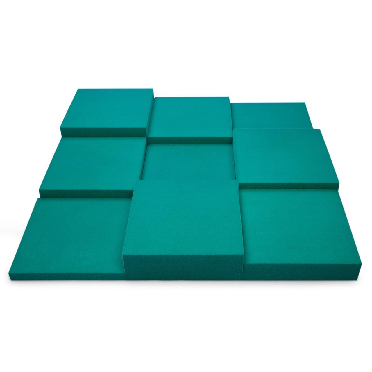 Панель из акустического поролона Ecosound Pattern Velvet 60мм, 60х60см цвет темно-зеленый