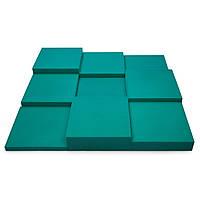 Панель из акустического поролона Ecosound Pattern Velvet 60мм, 60х60см цвет темно-зеленый, фото 1
