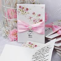 Нежная пригласительная на свадьбу в стиле шебби-шик