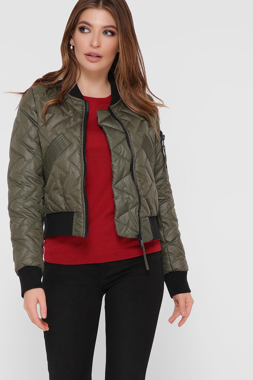 Куртка женская зеленая D-Бомбер 4006