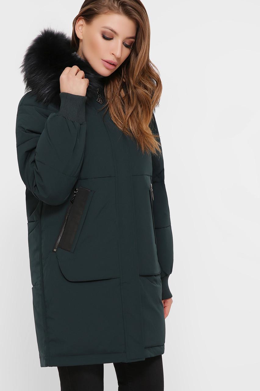 Куртка женская изумруд М-78