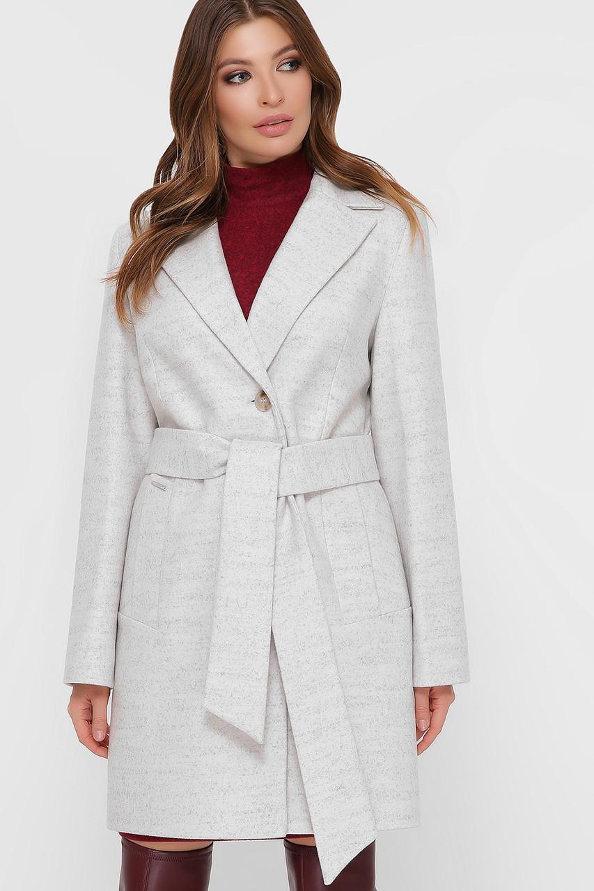 Пальто женское белое ПМ-111