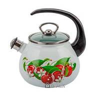 Чайник с свистком 2,5 л Украинские вишни Gusto GT-U-225-KС (95539)