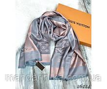 Брендовый шарф серый (реплика)