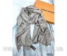 Брендовый  шарф  бежевый  (реплика)