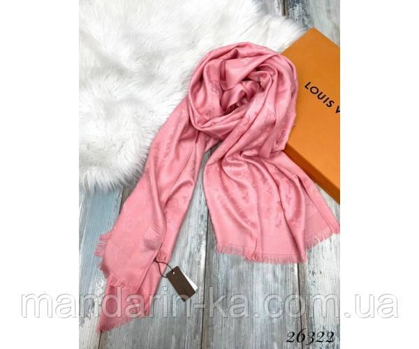 Брендовый шарф  розовый (реплика)