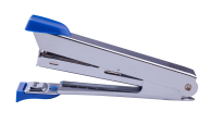 Степлер металлический, 12 л., (скобы №10), 94x42x21 мм, синий, фото 2