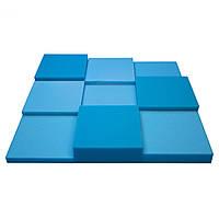 Панель из акустического поролона Ecosound Pattern Blue 60мм, 60х60см цвет синий, фото 1