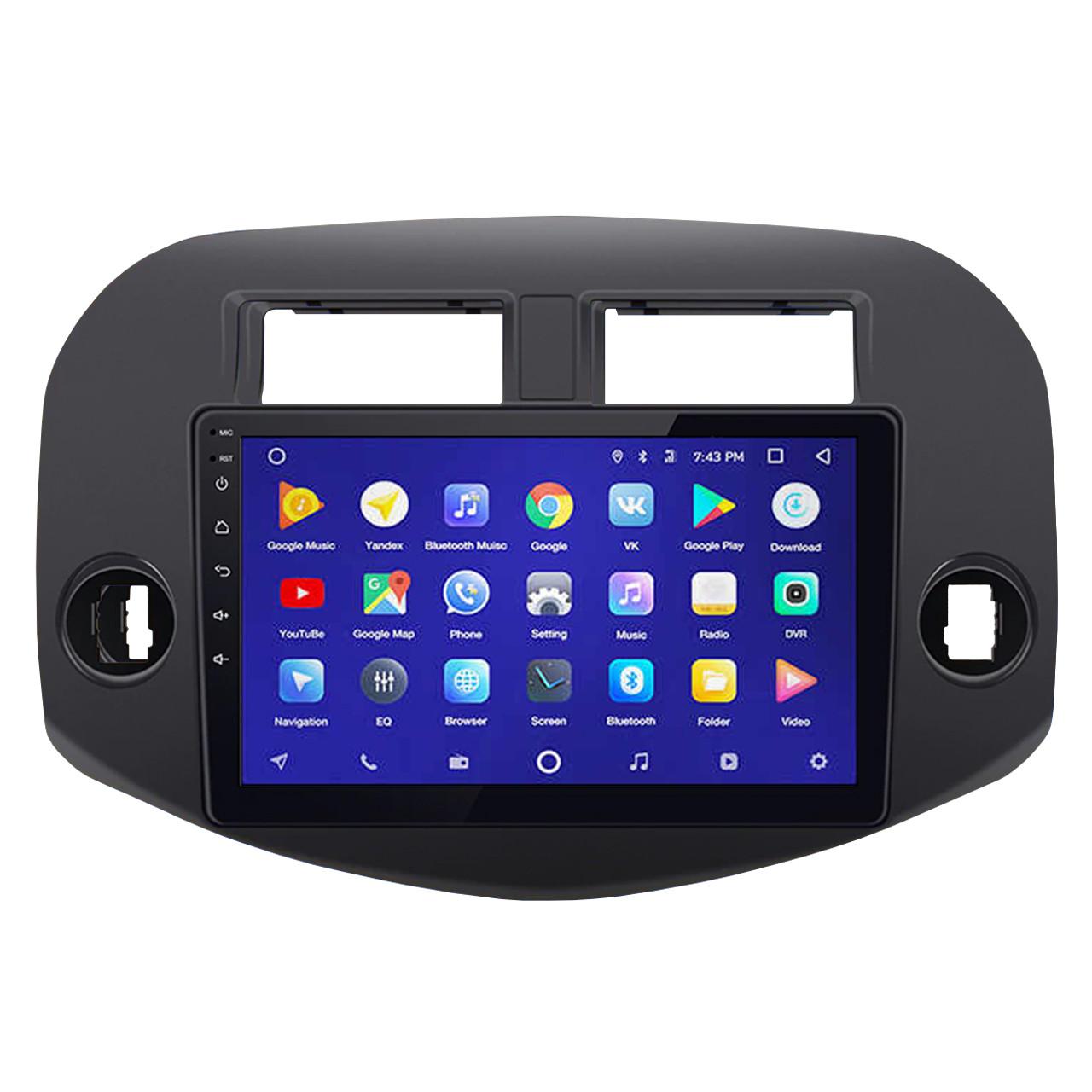 """Штатная автомагнитола 10"""" Toyota RAV4 (2007-2012г.) 2/32 Гб GPS Wi-Fi мощность 4x45 Вт Android 8.1 Go"""