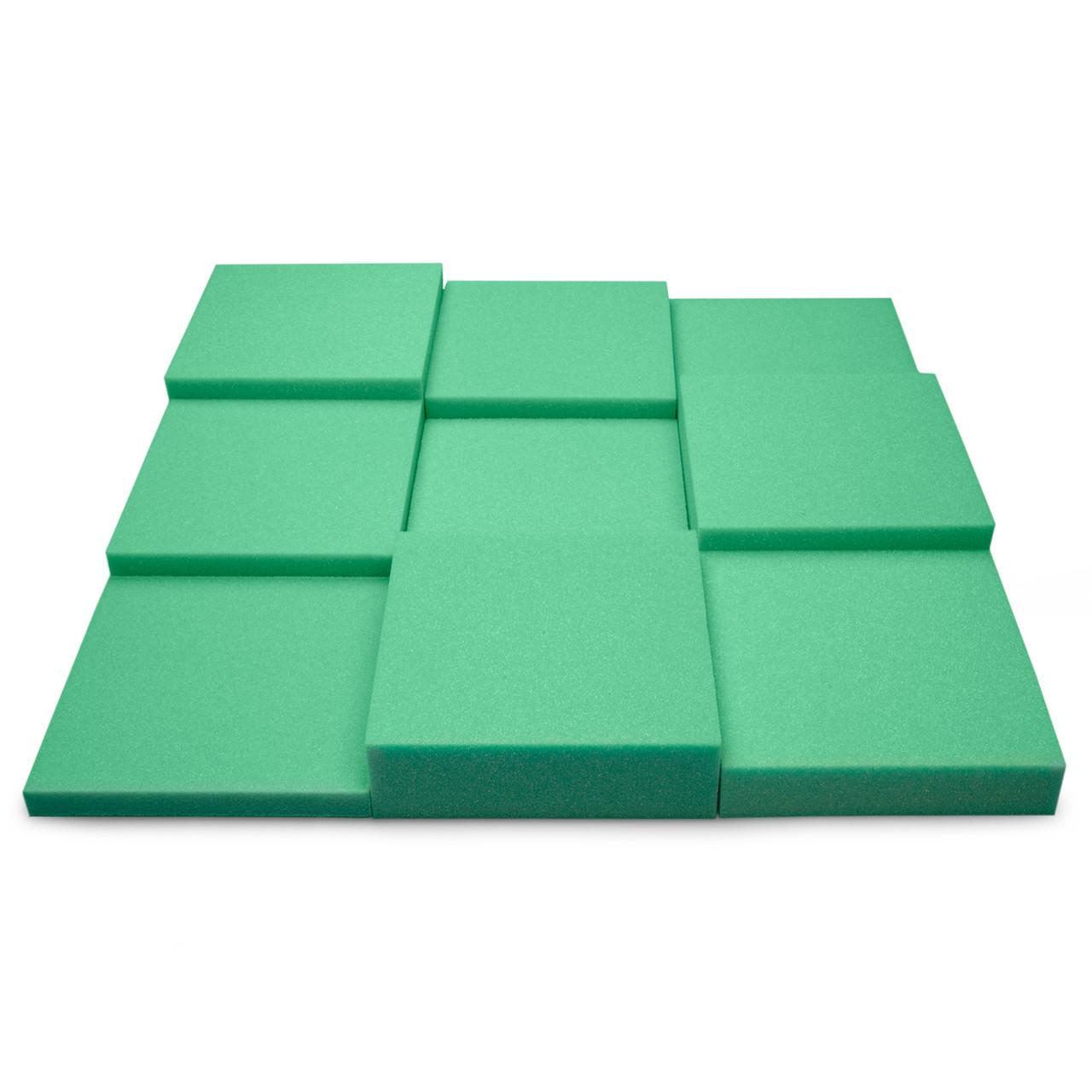 Панель з акустичного поролону Ecosound Pattern Green 60мм, 60х60см колір зелений