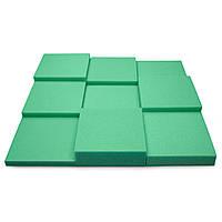 Панель з акустичного поролону Ecosound Pattern Green 60мм, 60х60см колір зелений, фото 1