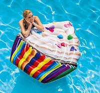 Пляжный надувной матрас Intex 58770 «Кекс», 142 х 135 см